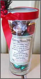 "Printable Labels ""Holiday Stress Pills"" ""Does the holiday season keep you up all night? Are you shop-til-you-dropping, or mak..."