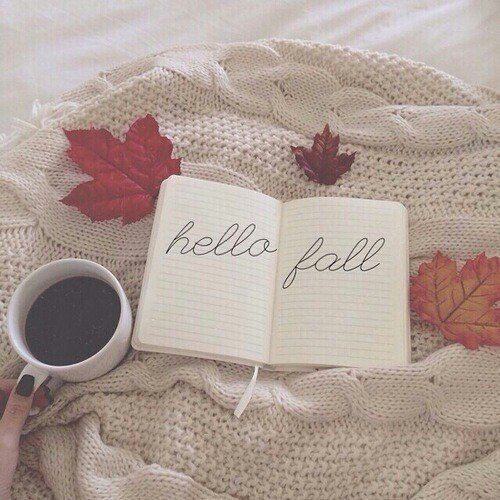 coffee,book & fall