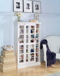 Shop for Harper Blvd White Sliding Door Media Cabinet. Get free shipping at Overstock.com - Your Online Furniture Outlet Store! Get 5% in rewards with Club O! - 10692177