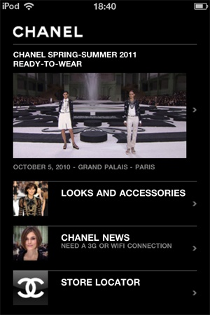 High #fashion & high #technologies #chanel #application