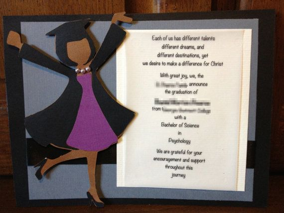 handmade  custom graduation invitation or by snazzybazzy on