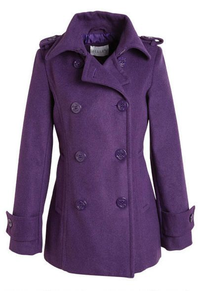 Purple Peacoat. @Becky McNew CHRISTMAS PRESENT!