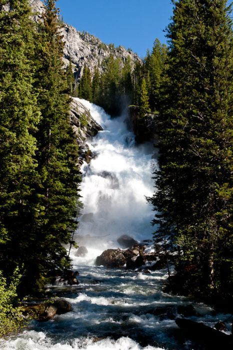 #Hidden Falls - Jackson, Wyoming  #Travel Wyoming USA multicityworldtravel.com We cover the world over 220 countries, 26 languages and 120 currencies Hotel and Flight deals.guarantee the best price
