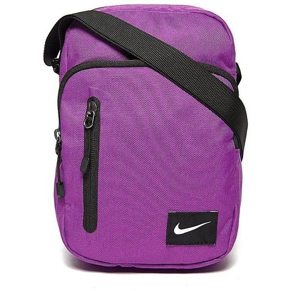 Nike Core Small Items Bag II ($26) ❤ liked on Polyvore featuring bags, handbags, shoulder bags, purple, nike shoulder bag, nike, purple handbags, purple purse and nike purse