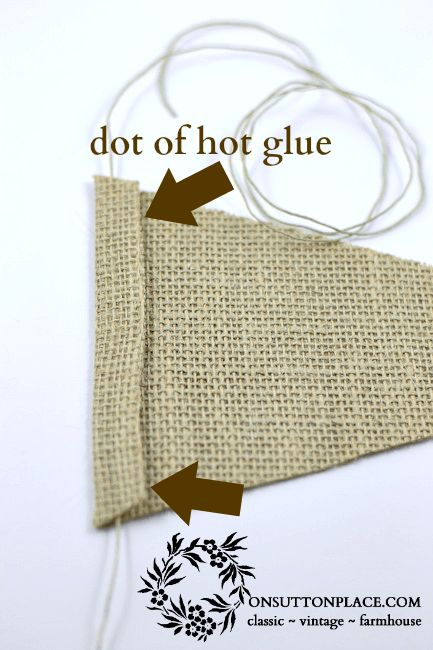 """Burlap Banner Tutorial, """"thanks"""" is what I would do."""