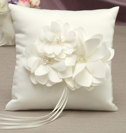 Water Lily Ring Bearer Pillow