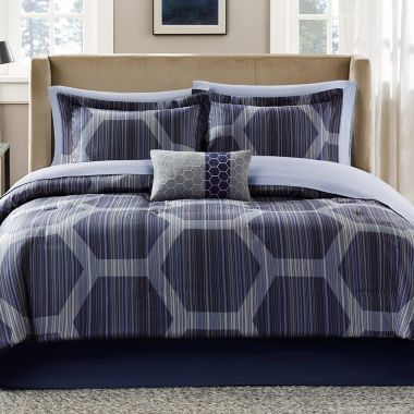 Madison Park Pierce 9-pc. Complete Bedding Set with Sheets    found at @JCPenney
