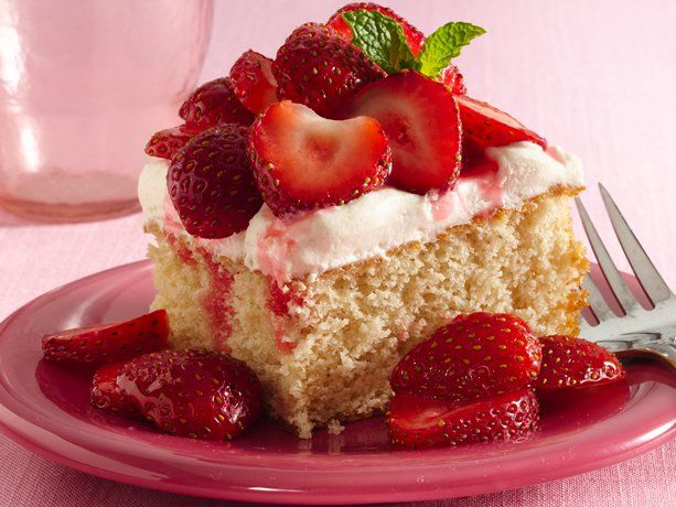 Strawberry Shortcake Squares, I Added Fresh Strawb`s myself into the cake mix and baked caked, then add Cool wip ahh so yummy