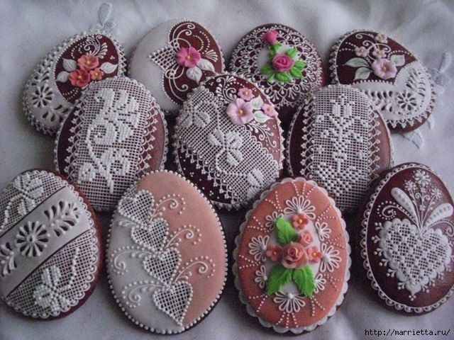 Floral Lacey Cookies