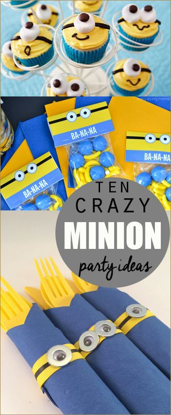 10 Minion Party Ideas.  Minion or Despicable Me party ideas.  Creative party decor, food and games for a boy or girl birthday party.  Minion Mayhem!