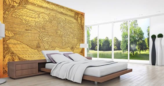 Our dry erase ancient map wall decal works just like a for Dry erase world map wall mural