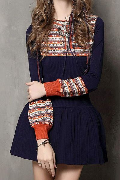 Long Sleeve Jacquard Ruffled Sweater Dress. See more @ http://topreviews.momsmags.net