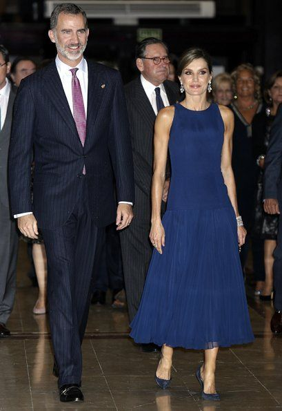 King Felipe and Queen Letizia attend the 2017 FPA Awards Concert
