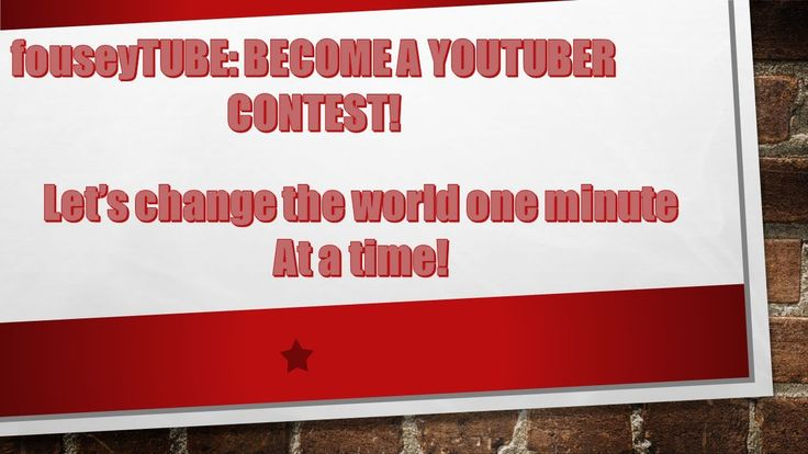 fouseyTUBE: BECOME A YOUTUBER CONTEST!