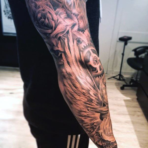 17 best ideas about guy tattoos on pinterest bad tattoos for Wing tattoo arm