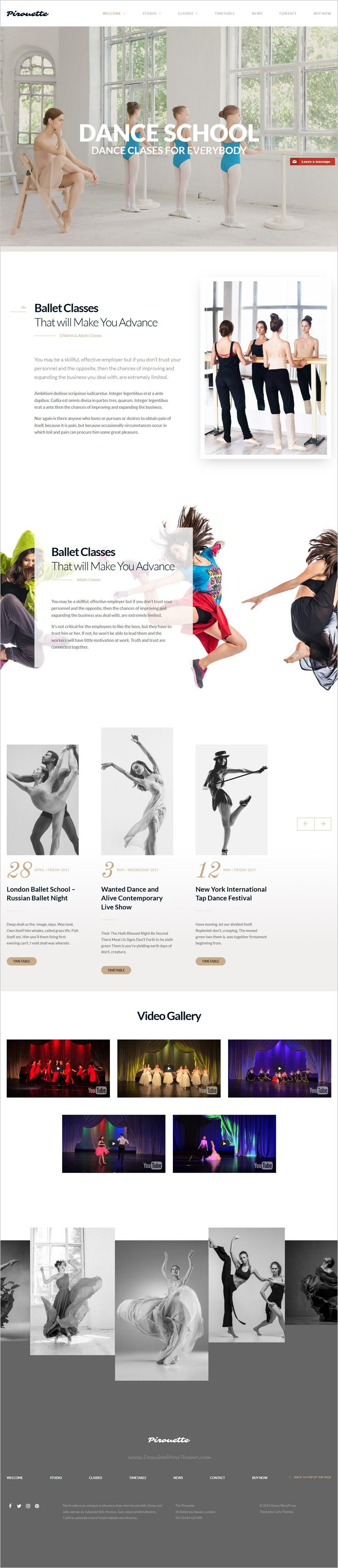 Dance Academy is a premium #WordPress theme for #dance school, fitness center or yoga #studios website with 4 unique homepage layouts download now➩ https://themeforest.net/item/dance-wordpress-theme-dancing-academy/18118447?ref=Datasata