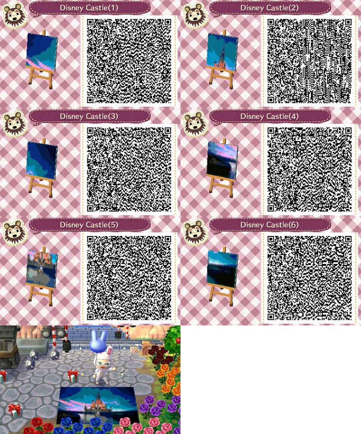 179 best hannah 39 s closet of qr codes images on pinterest for Animal crossing mural