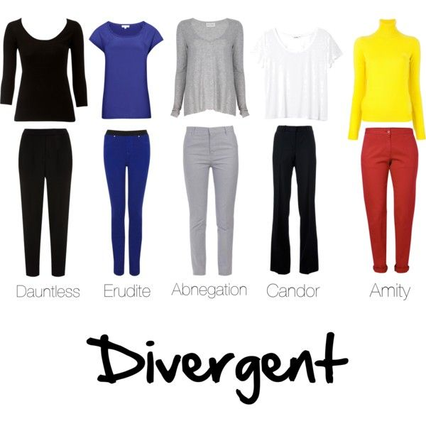 Divergent Clothing by meganmacgregor, via Polyvore I have to say.. Dauntless is my favorite #factionbeforefashion