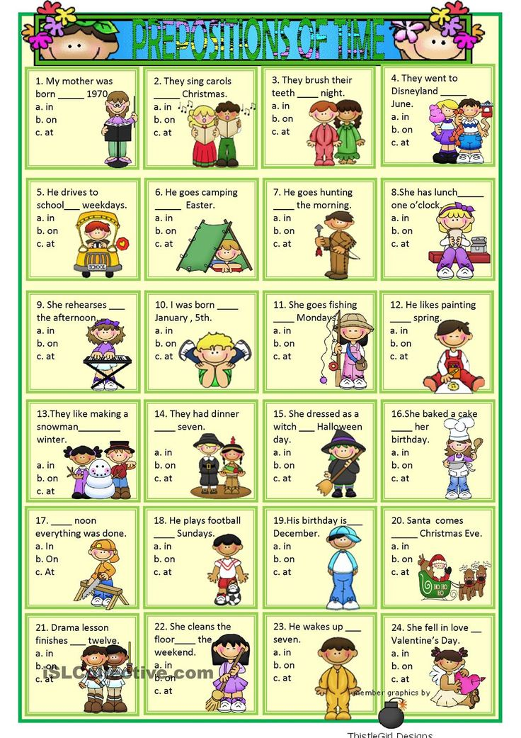 Time Worksheets Multiple Choice : Best prepos images on pinterest english activities