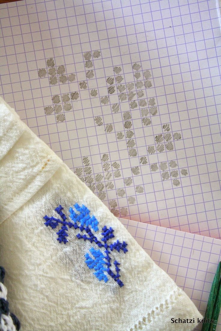 Romanian embroidery inspired knits blogged about @ Schatzi's knits