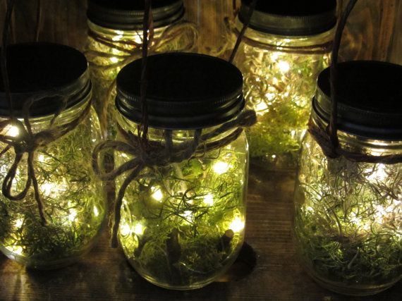Decor; used with mini battery operated fairy lights...serious need more fairy lights in my life! Looks like fire flies. :)