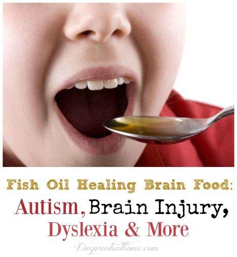 Fish Oil Healing Brain Food: Autism, Brain Injury & Dyslexia