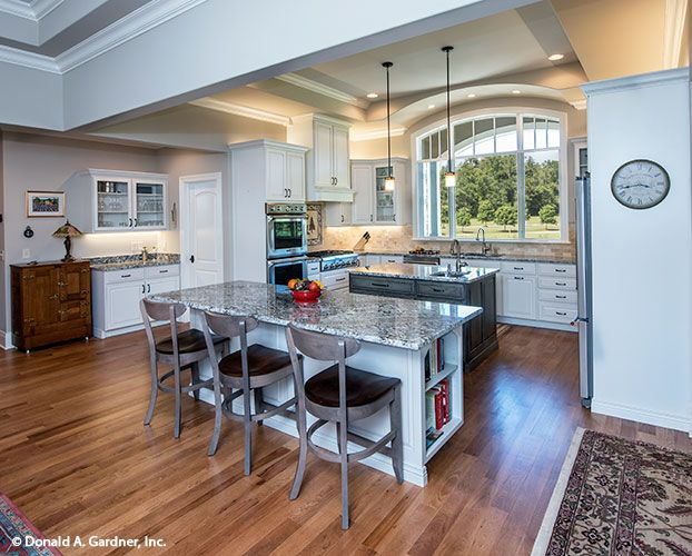 This kitchen is completely open with 2 islands and a front for Completely open floor plans