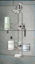 2 tiers regolabile doccia caddy bagno cremagliera finitura cromata(China (Mainland))