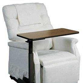 This deluxe left side overbed table serves many purposes. It can be used for eating, writing, crafts, working on the computer, reading, games and much, much more. The product was designed for use with a lift chair, standard recliner or couch. The table comes available in right or left positioning with 180 degree rotation, allowing […]