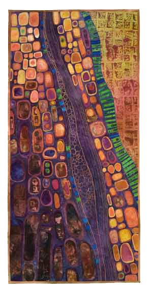 quilt - reminds me of Klimt: Klimpt Art, Fiber Art Quilts, Abstract Quilts, Embroidery Abstract, Abstract Art, Textiles Art, Quilts Art, Fiber Artists, Textile Art