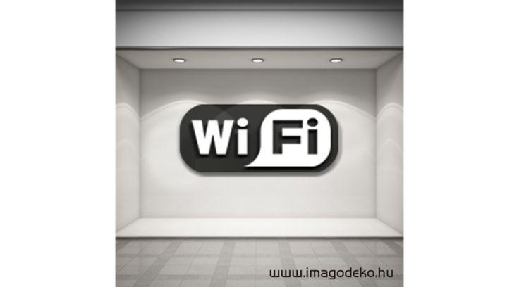 Wifi felirat üzlet dekoráció - Plasztikus dekor - Imágódeko - Otthondekor és üzletdekor