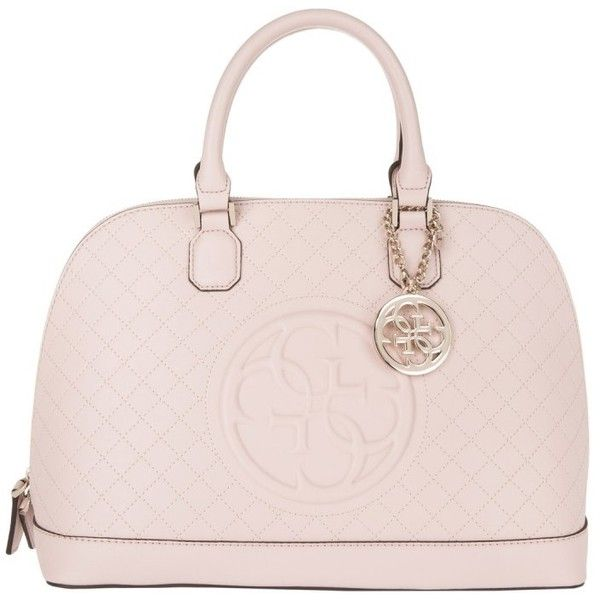 Guess Korry Tote Light Rose in rose, Handle Bags (£125) ❤ liked on Polyvore featuring bags, handbags, tote bags, totes, rose, pattern tote bag, pink tote purse, logo tote bags, tote purses and zip tote bag