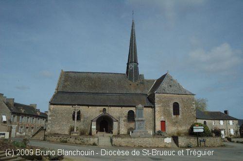Église St-Juvat, à Saint-Juvat.