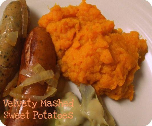 Mashed Sweet Potatoes Velvety Mashed Sweet Potatoes {Dairy Free}