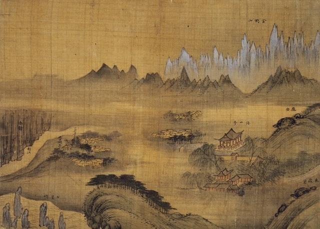겸재 정선(Jung Sun 鄭敾), 金剛內山摠圖, 《辛卯年楓嶽圖帖》 General View of Inner Mt. Geumgangsan, One Leaf from Album of Mt. Geumgangsan,1711
