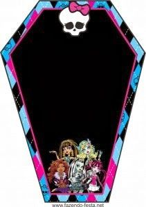 Kit de la Calavera de Monster High para Imprimir Gratis. | Ideas y material gratis para fiestas y celebraciones Oh My Fiesta!