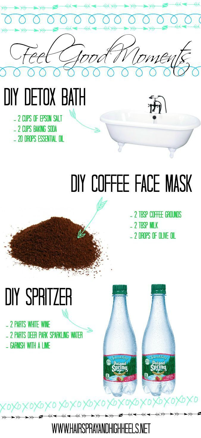 Feel Good Moments: DIY Detox Bath & Coffee Face Mask