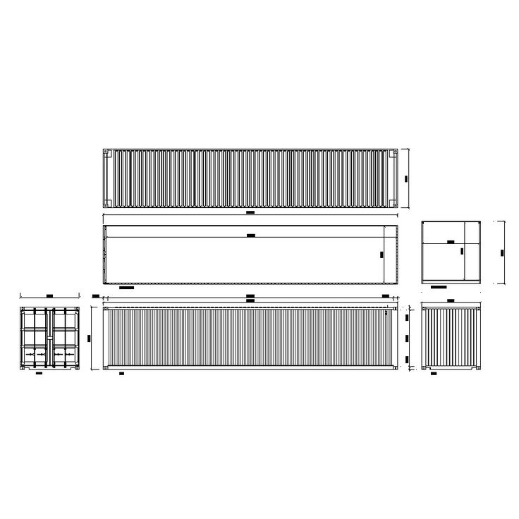 cad blocksdwg container tiny houses