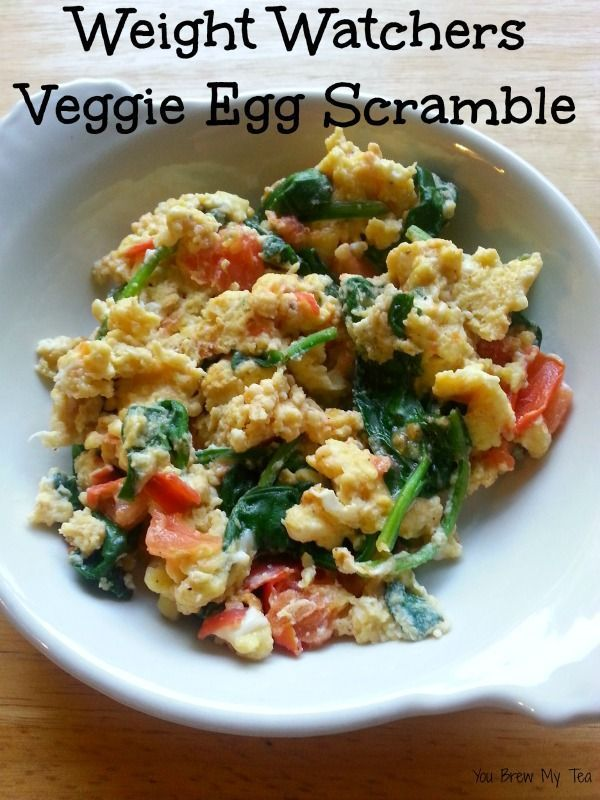 Weight Watchers Veggie Egg Scramble is a simple and easy egg breakfast recipe that everyone will love!