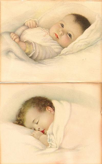 vintage baby by Bessie Pease Gutmann by autumnsensation, via Flickr