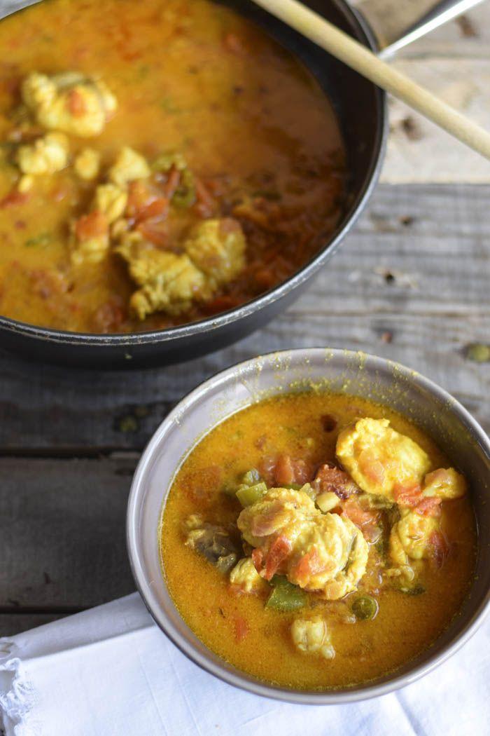 Zuppa di rana pescatrice curry e latte di cocco