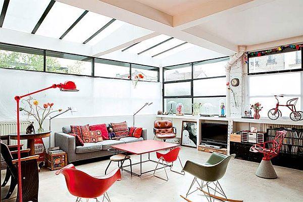<3: Spaces, Paris, Living Rooms, Glasses, Loft Apartment, Mary Claire, Rooms Ideas, Retro Interiors, Salons