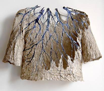 ℘ Paper Dress Prettiness ℘ art dress made of paper - Raija Jokinen