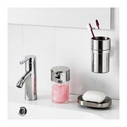 IKEA - KALKGRUND, Toothbrush holder, , Easy to clean since the surface is clear lacquered.The chrome finish is durable and resistant to corrosion.It's easy to keep the toothbrush holder clean as the base is removable.