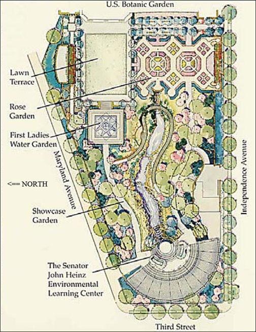 U.S. Botanic Garden Map