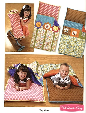Nap mats in the new Art to Heart book - love <3