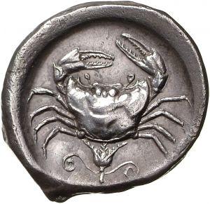 Tetradracma - argento - Akragas (Agrigento), Sicilia (ca.464-450 a.C.) - Granchio - Münzkabinett Berlin
