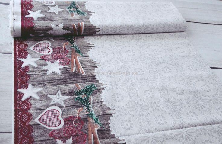 Vianočná čipkovaná s bordúrou