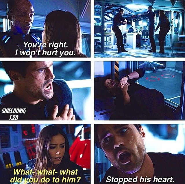 Ward and Skye #AgentsOfSHIELD @Katniss Pevensie wait wait wait what is this??????????????????????????????????????????????????????????????????