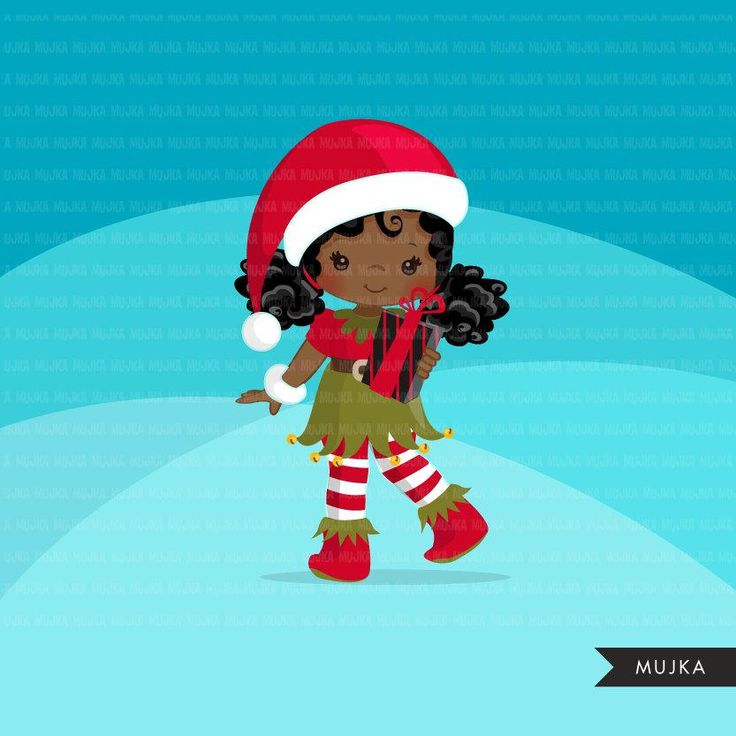 Christmas Elf Clipart Cute Noel Illustration Elves With Etsy Elf Clipart Christmas Elf Elf Drawings